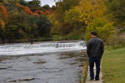 My rock walking along the river