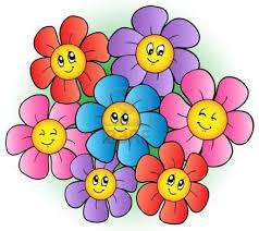 flower smiling cartoon